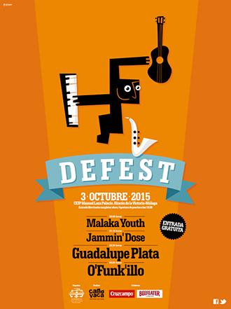 O'funk'illo, Guadalupe Plata, Jammin' Dose y Malaka Youth componen el cartel de la I edición del festival DeFest