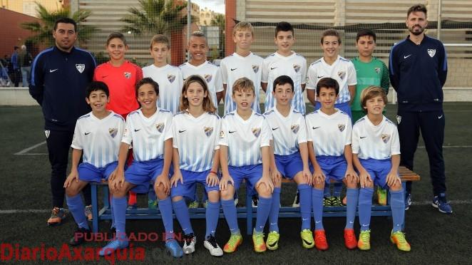 Los alevines lidera la tabla del grupo malagueño de la 2ª División Andaluza