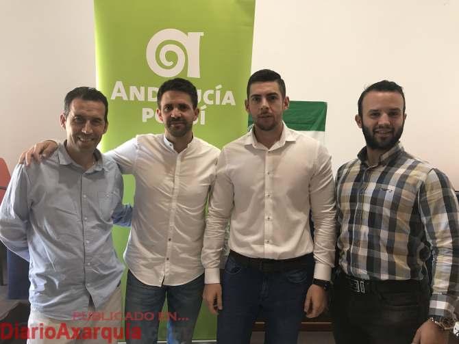 Pino y Moreno junto a Andrés García y Ginés García