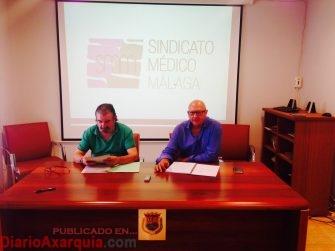 Julio Ros y Juan Carmona esta mañana en rueda de prensa en Vélez Colegio Oficial de Médicos de Vélez 3 10 2017