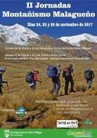 Cartel II Jornadas del Montañismo Malagueño.