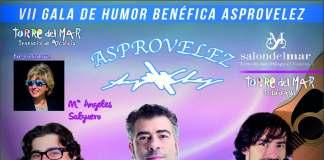 Cartel anunciador de VII Gala de Humor Asprovélez.