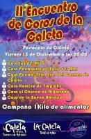 Cartel anunciador del II Encuentro Coros Caleta de Vélez.
