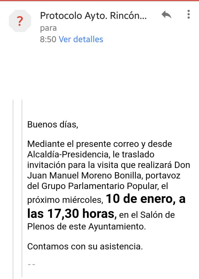 """Anaya ha lamentado que tanto Francisco Salado como el PP local """"utilice medios institucionales como la cuenta de correo electrónico y la base de datos del protocolo municipal y otros medios del ayuntamiento al servicio de su partido""""."""