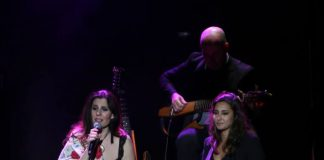 Momento de las dos artistas en el Teatro Cervantes de Málaga.