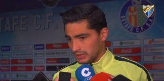 """El jugador blanquiazul compareció ante los medios, en la zona mixta del Coliseum Alfonso Pérez, tras el encuentro ante el Getafe: """"No nos damos por vencidos, este vestuario sigue creyendo"""", declaró."""