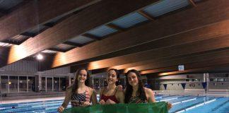 Marina Acosta, Lucia Soria y Andrea Navas, convocadas con la Selección Andaluza de Natación, para su participación en el Campeonato de España por Comunidades Autónomas.