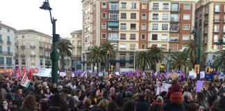 Málaga se ha volcado en un día histórico con la primera huelga general feminista realizada en España para exigir igualdad real.