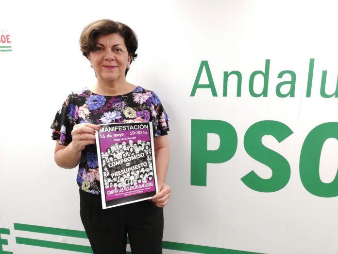 Fuensanta Lima hace un llamamiento a la sociedad para participar mañana en la concentración convocada por la plataforma Violencia Cero en la plaza de la Merced de Málaga.