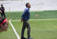 """El entrenador del Málaga CF Femenino agradeció el apoyo de la afición que durante todo el año ha apoyado al equipo: """"Ellos también son parte de este ascenso y se merecen algo bonito""""."""