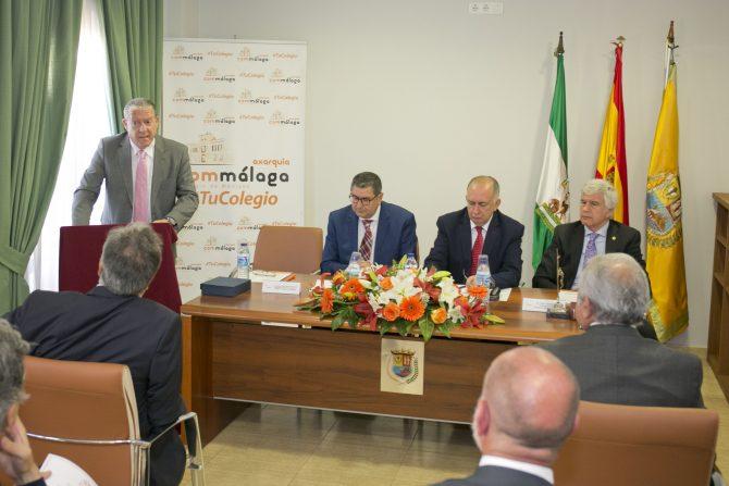 Discurso del nuevo delegado del Commálaga en La Axarquía Miguel Ángel Sarmiento.