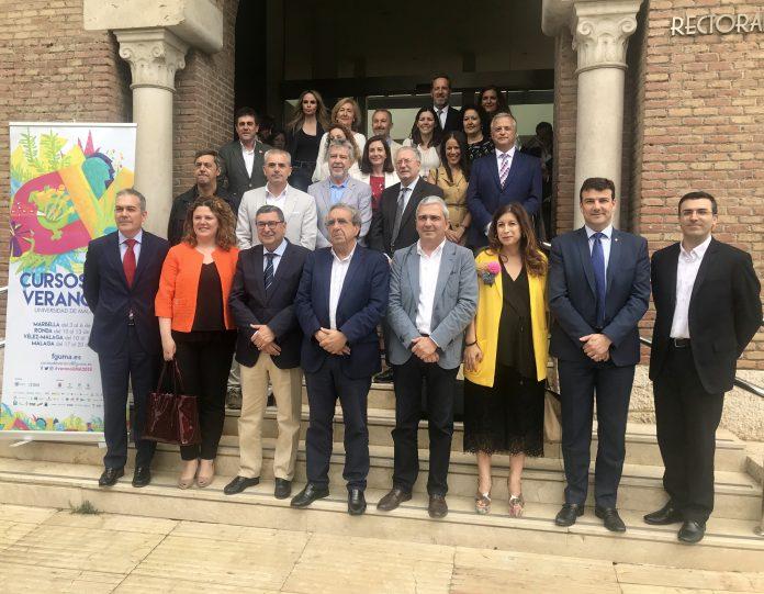 La presentación de los cursos tuvo lugar en el edificio del Rectorado de la Universidad de Málaga.