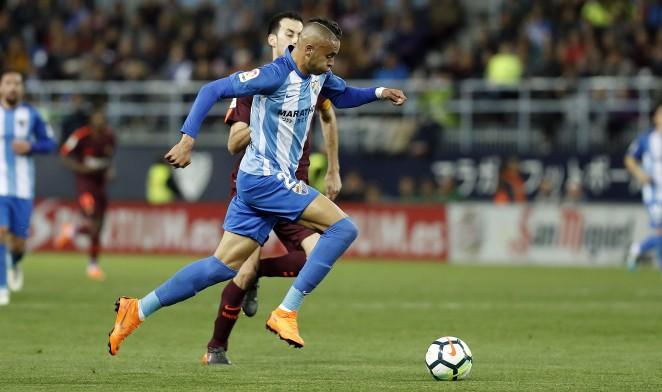 El delantero malaguista anotó el tercer tanto del combinado norteafricano, en el último amistoso de los leones del Atlas antes del Mundial de Rusia.