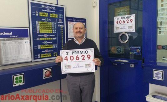 El propietario de la administración Virgen de Lourdes, Eduardo Recio, en una imagen de archivo de otro premio del año 2016.