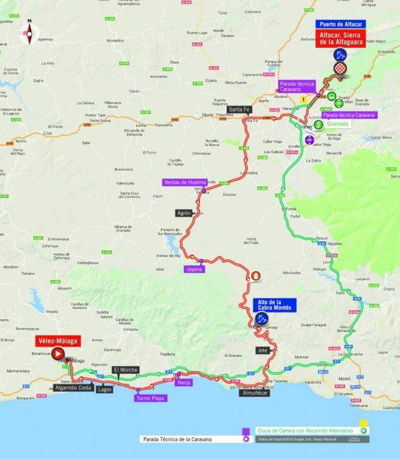 Horarios oficiales de La Vuelta.