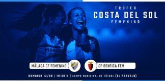 El Málaga CF Femenino se medirá al Clube Futebol Benfica el próximo 12 de agosto a las 19:30 horas en el campo de El Pozuelo (Torremolinos).