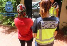 Desarticulada una organización criminal de origen nigeriano dedicada a la captación y traslado hasta España de mujeres, siendo prostituidas en Málaga tras contraer una deuda que oscilaba entre los 25.000 y los 55.000 euros