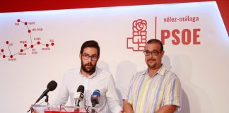 El secretario de organización Víctor González y el secretario de política municipal Francisco Medina.