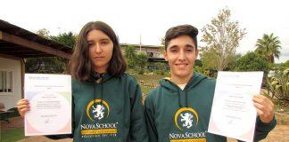 Los alumnos Nacho Viano y Ángela Serrano del colegio británico Novaschool Sunland International han sido galardonados con el premio Outstanding Cambridge Learner (también conocidos como ''estudiantes sobresalientes'')