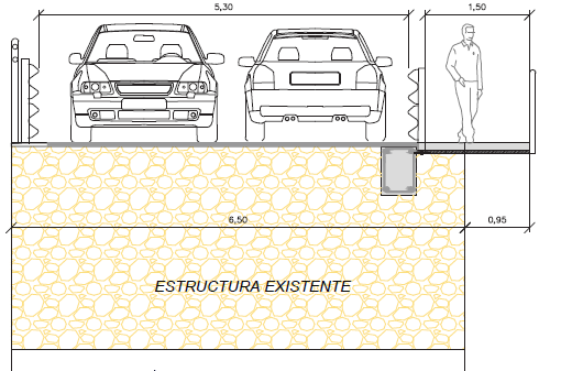 La Delegación Territorial de Fomento y Vivienda de Málaga va a construir una pasare-la con pavimento de hormigón y un ancho libre de paso de 1,50 metros, que irá adosada al Puente de Don Manuel ubicado en el termino municipal de Alcaucín.
