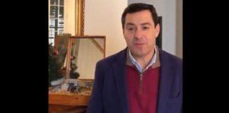 Juanma Moreno, durante su discurso - Foto: Twitter.