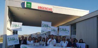 Imagen de una reciente protesta en el Hospital del Guadalhorce que su servicio de Urgencias no era digno ni cumplía unos mínimos de calidad.