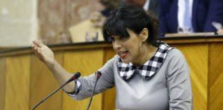 La líder de Adelante Andalucía, Teresa Rodríguez.